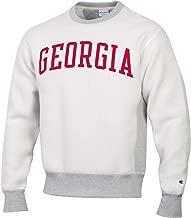 Champion Men's NCAA Inside Out Reverse Weave Crew Sweatshirt-Silver Grey