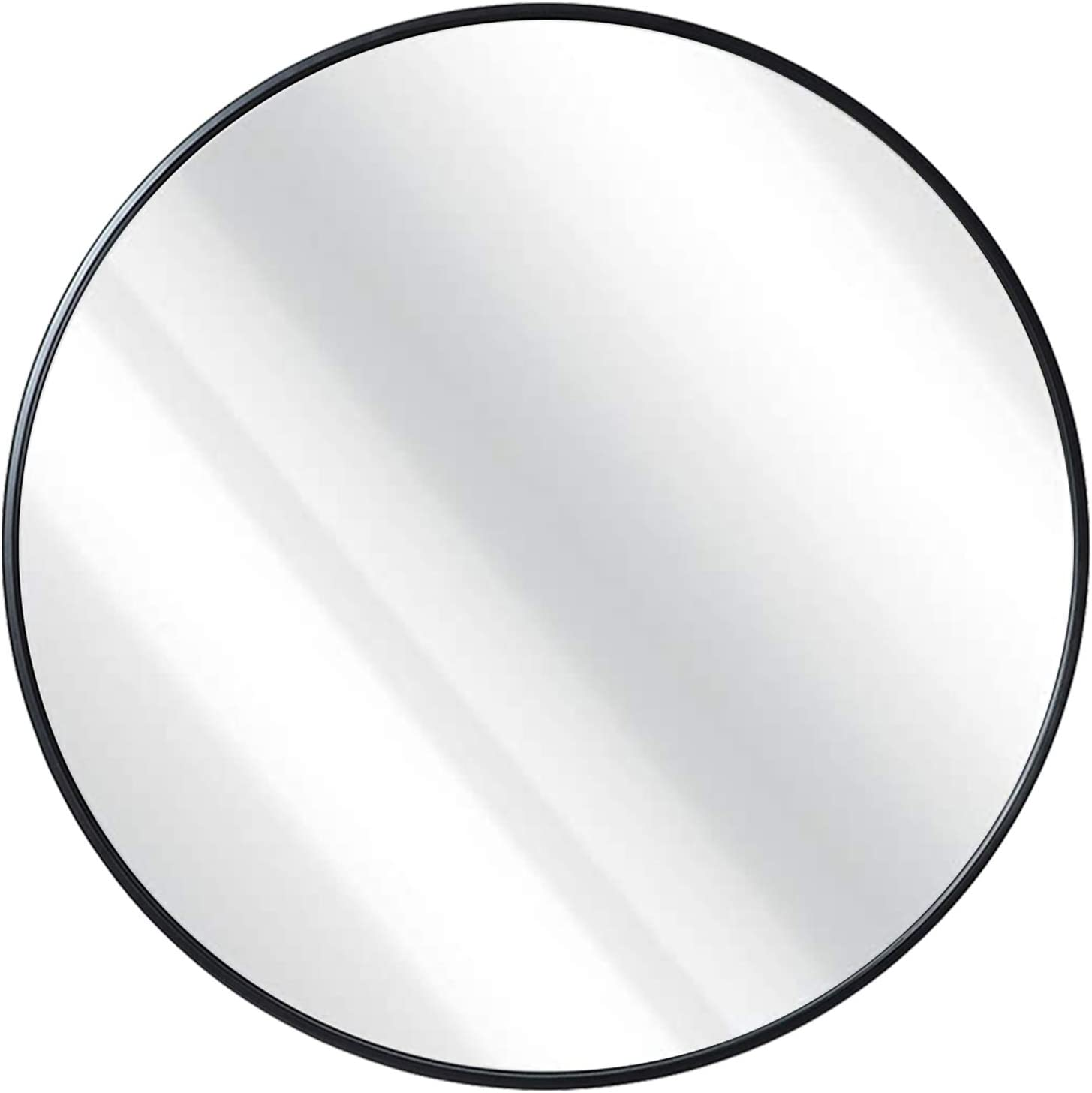 30 inch Round Mirror, Metal Frame Wall Mounted Large Circle Mirror for Washing Room, Living Room, Home Decoration: Kitchen & Dining