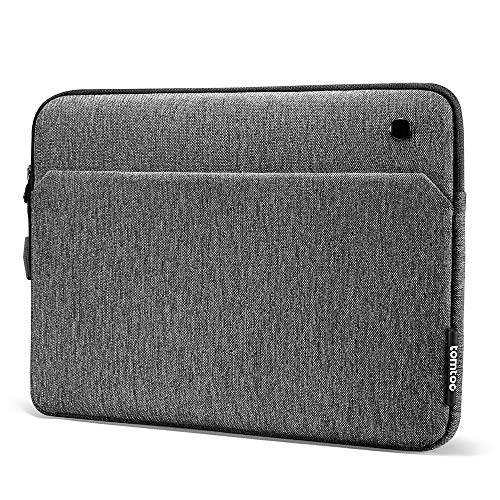 tomtoc Tablet Sleeve for 12.9 Inch New iPad Pro 2018-2020 with Magic Keyboard and Smart Keyboard Folio or Logitech Slim Folio Pro Case, Front Pocket for Tablet Accessories