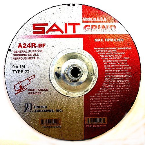 1//8 Width and 5//8-11 Arbor United Abrasives-SAIT 20130 Ultimate Pipeline Cutting 10-Pack Notching and Light Grinding Wheel on Stainless Steel with 6 Diameter