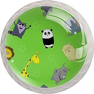 Poignées de Tiroir pour armoire,tiroir,coffre,commode,etc., Dessin animé, girafe, panda