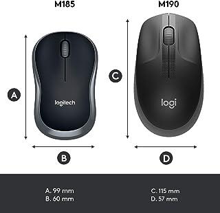 Logitech M185 910-002235, Mysz Komputerowa, Szary/Czarny