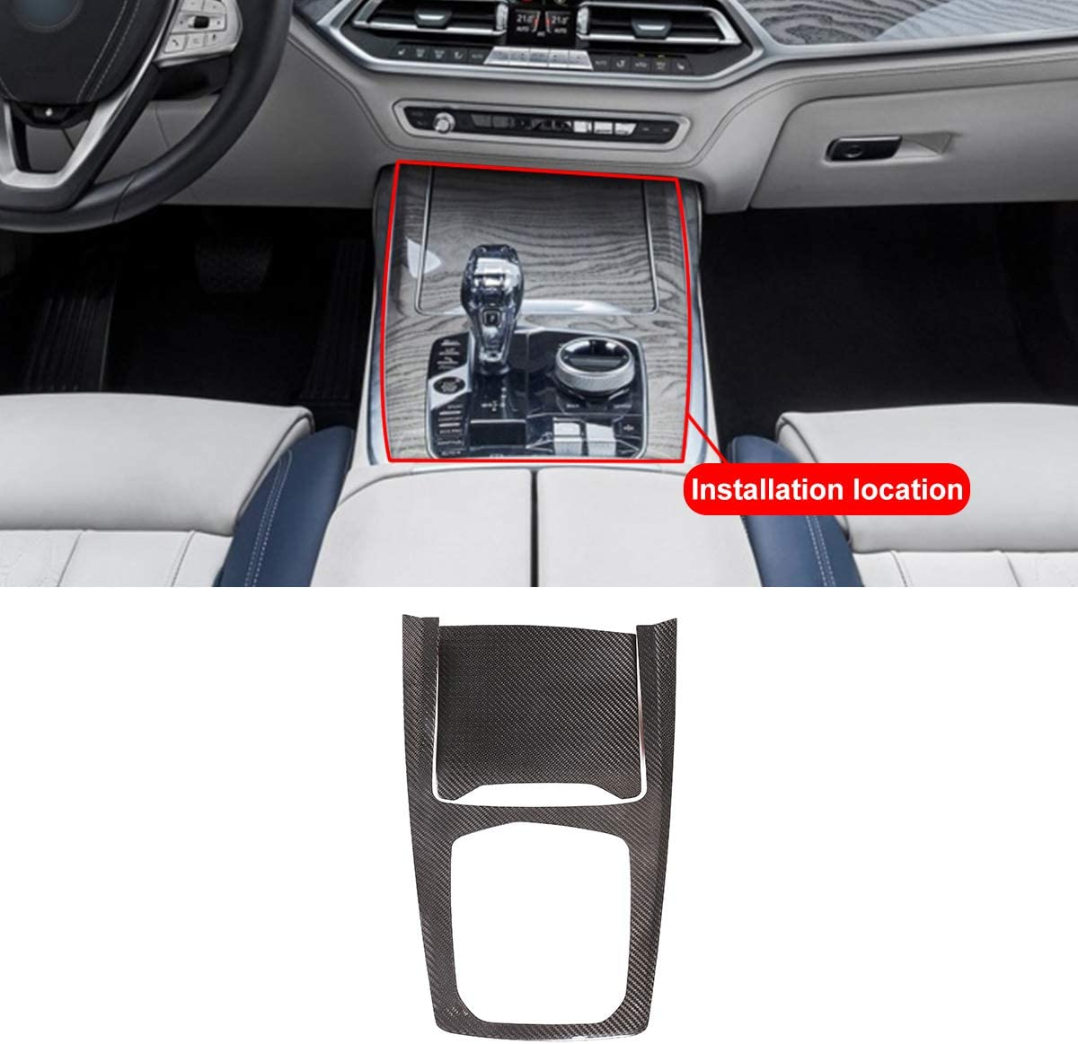 Real Now on sale Carbon Fiber Car Center Tri Consoles Decoration Cover Max 67% OFF Panel