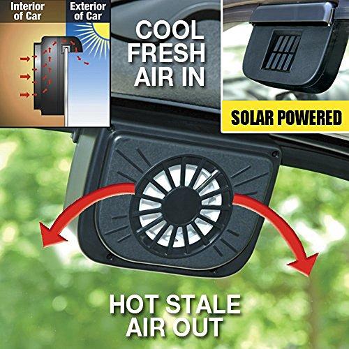 Autocool Solar Power Car Fan, Black,