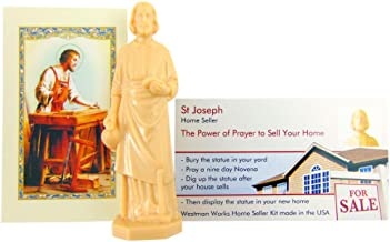 Westmon Works St Joseph Statue for Selling Homes with Instruction Card and Novena Prayer Complete Kit