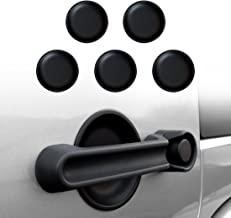 IPARTS Dish Shaped Door Handle Recess Guard Inserts for Jeep Wrangler JK JKU Unlimited Rubicon Sahara X Off Road Sport Accessories Parts 2007 2008 2009 2010 2011 2012 2013 2014 2015 2016 2017-4 door
