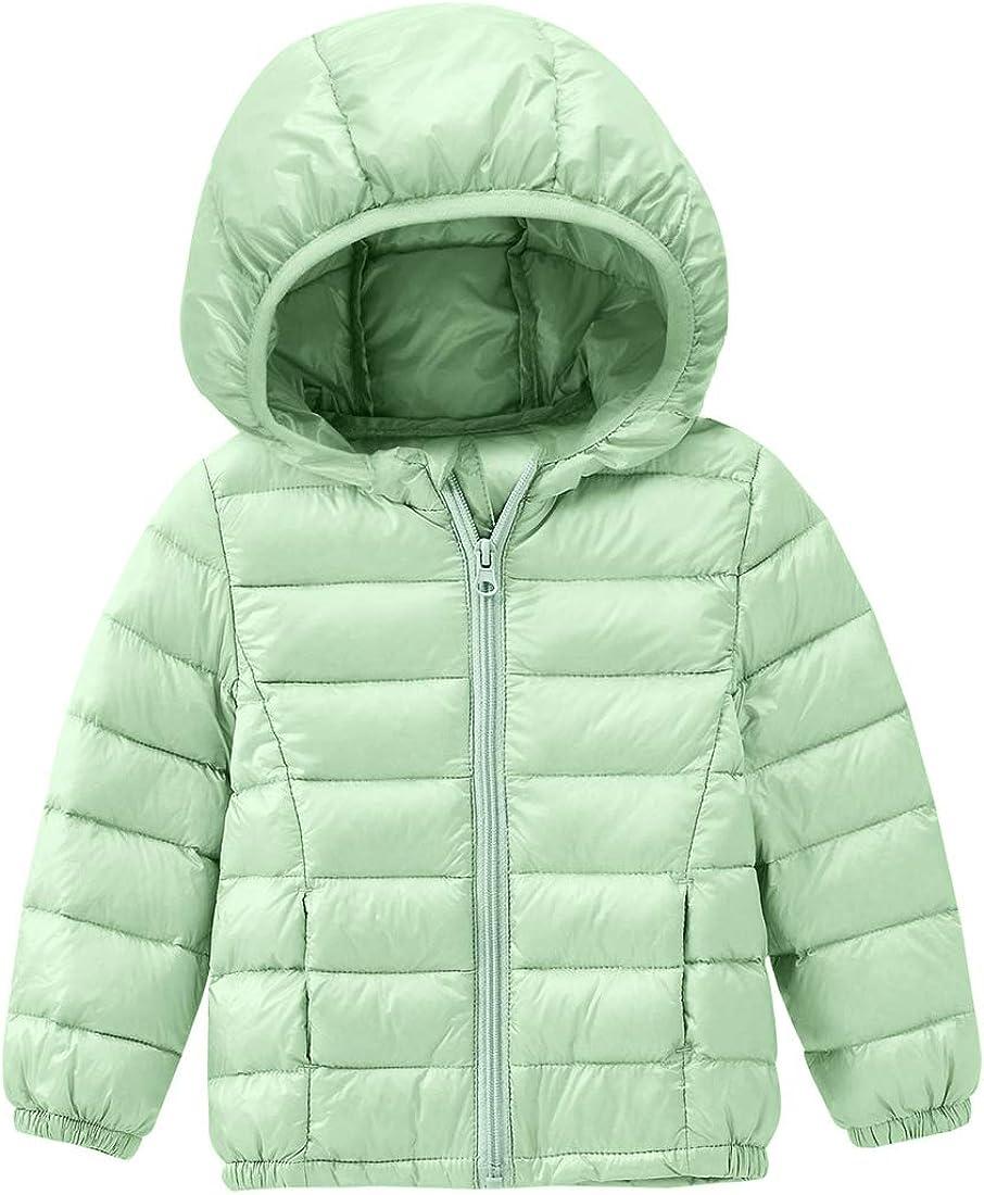 Girls Down Denver Mall Max 47% OFF Jacket Winter Warm D Windproof Hooded Zipper Packable