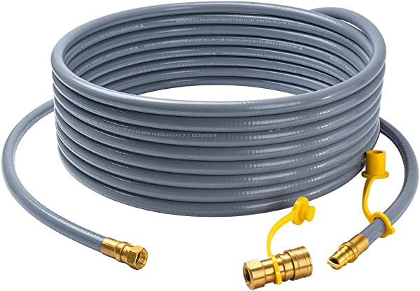 GASPRO 24 Feet Natural Gas Hose With 3 8 Male Flare Quick Connect Disconnect For BBQ Gas Grill 50 000 BTU Fits Low Pressure Appliance With 3 8 Female Flare Fitting CSA Certified