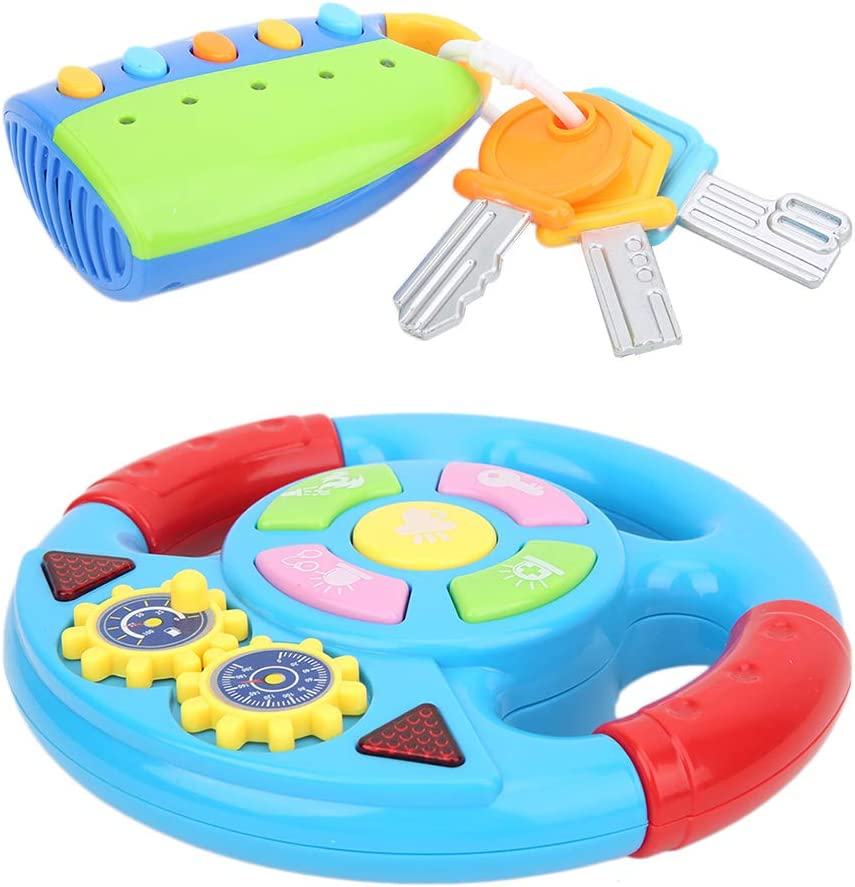 Germerse Toy Steering Wheel Sale Special Price Tulsa Mall Different Sounds Key Sound-Light