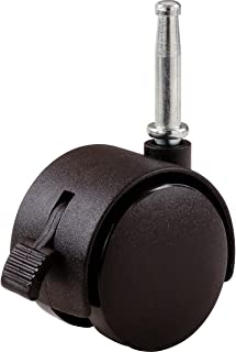 Shepherd Hardware 9406 2-Inch Office Chair Caster, Twin Wheel with Brake, 5/16-Inch Stem Diameter, 75lb Load Capacity, 2-P...