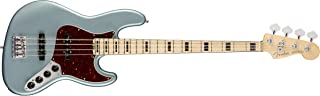Fender American Elite Jazz Bass - Satin Ice Blue Metallic with Maple Fingerboard