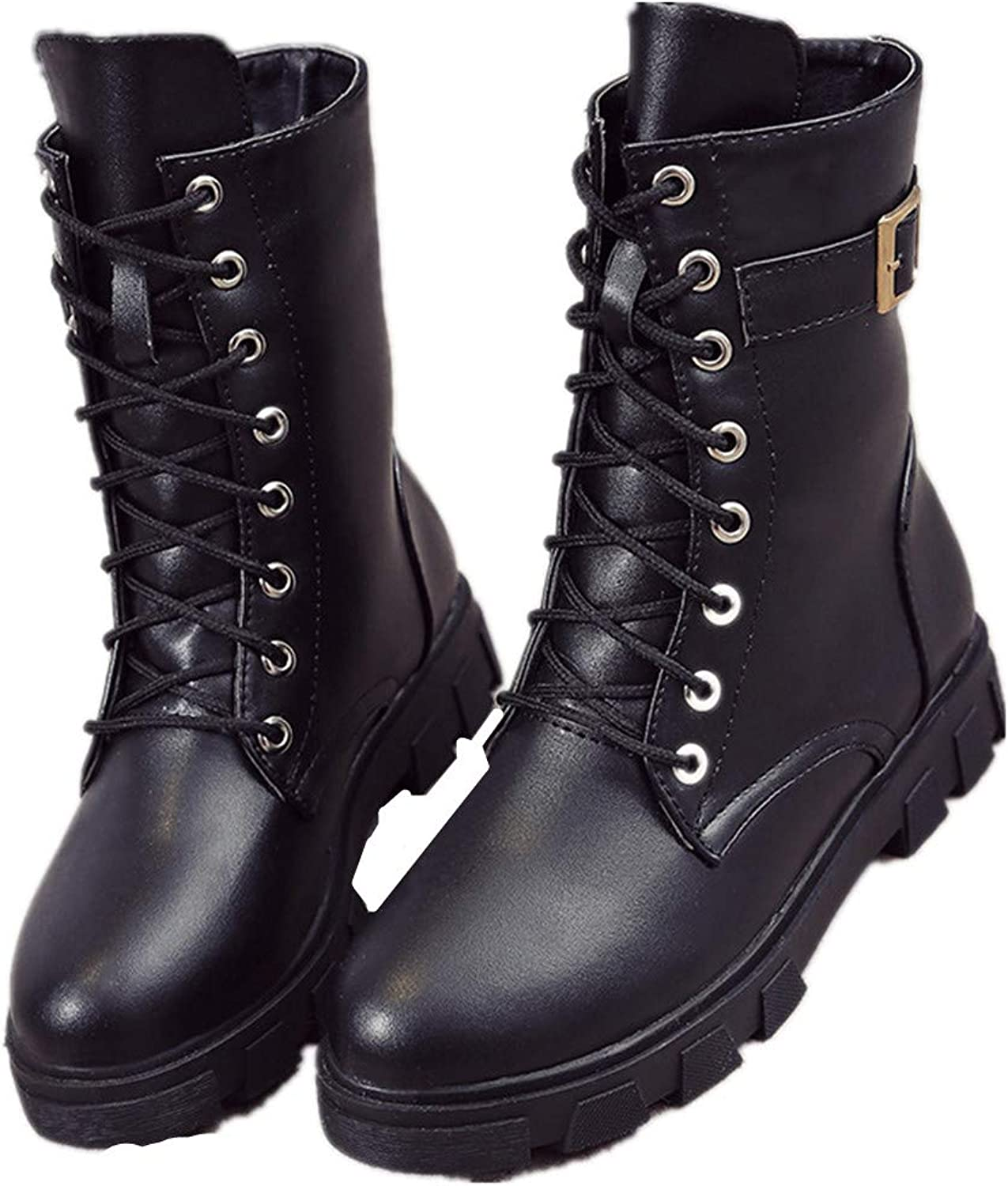 MIKA HOM Martin Boots Women's Autumn and Winter high top Boots New Motorcycle Boots