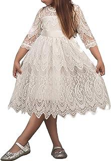 TTYAOVO Vestido sin Mangas de Fiesta de Lunares Retro de Verano Vestidos sin Mangas de Las Niñas