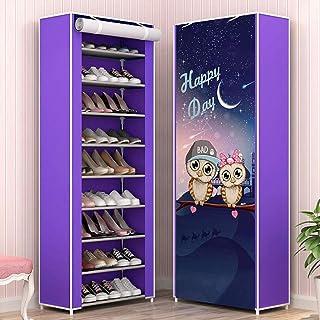 XWZH Cabinet de Chaussures Anti-poussière Stagiaire de Chaussures de Canevas Stagiper 10 Niveaux de Chaussures de Niveau 2...