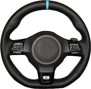 Genuine Leather Steering Wheel Cover for Volkswagen Golf 6 GTI MK6 VW Polo GTI Scirocco R Passat CC R-Line 2010