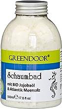 Greendoor natürliches Schaumbad mit Bio Jojobaöl und Atlantik Meersalz, 500ml, Pulver = Konzentrat, aus der Naturkosmetik Manufaktur