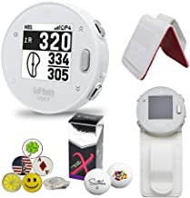 GolfBuddy Voice X GPS/Rangefinder Bundle with Belt Clip, 5 Ball Markers, 1 Magnetic Hat Clip and Saintnine 2 Ball Sleeve photo
