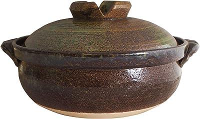 マルヨシ陶器 鉄釉 IH 9号土鍋 M3923 茶 3.3l 土鍋 IH対応 9号 M3923