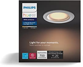 Philips Hue White Ambiance Dimmable LED Smart Retrofit Recessed Downlight (4-Inch Compatible with Amazon Alexa Apple Hom...