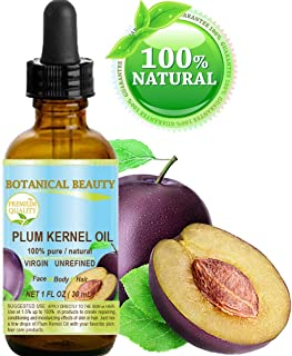French PLUM KERNEL Seed Carrier Oil. 100% Pure/Natural/Undiluted/Virgin/Cold Pressed for Skin, Hair, Lip and Nail Care. Sk...