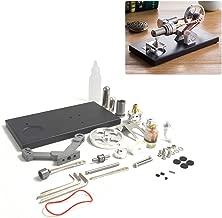 Yamix Stirling Engine Model, Hot Air Stirling Engine Assembly Kit with 4 LED Lights, Metal Cylinder and Base