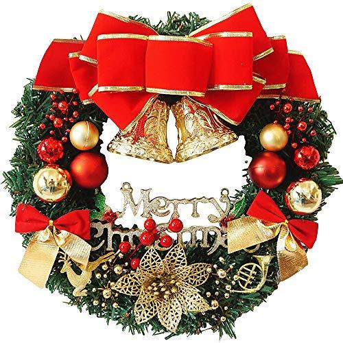 Xinlie Guirnalda Primavera Corona Hoja de Eucalipto Guirnalda Chimeneas Escaleras Guirnaldas Decoradas Corona Navideña Grande Corona de Puerta con Flores para Puerta Delantera,Decoración de Navidad