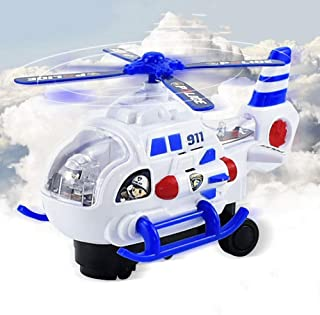 Mopoq Children's Electric Universal Plane Baby Helicopter Off-road Lighting Bus Boy Toy Car Model 3 Section 5th Charging P...