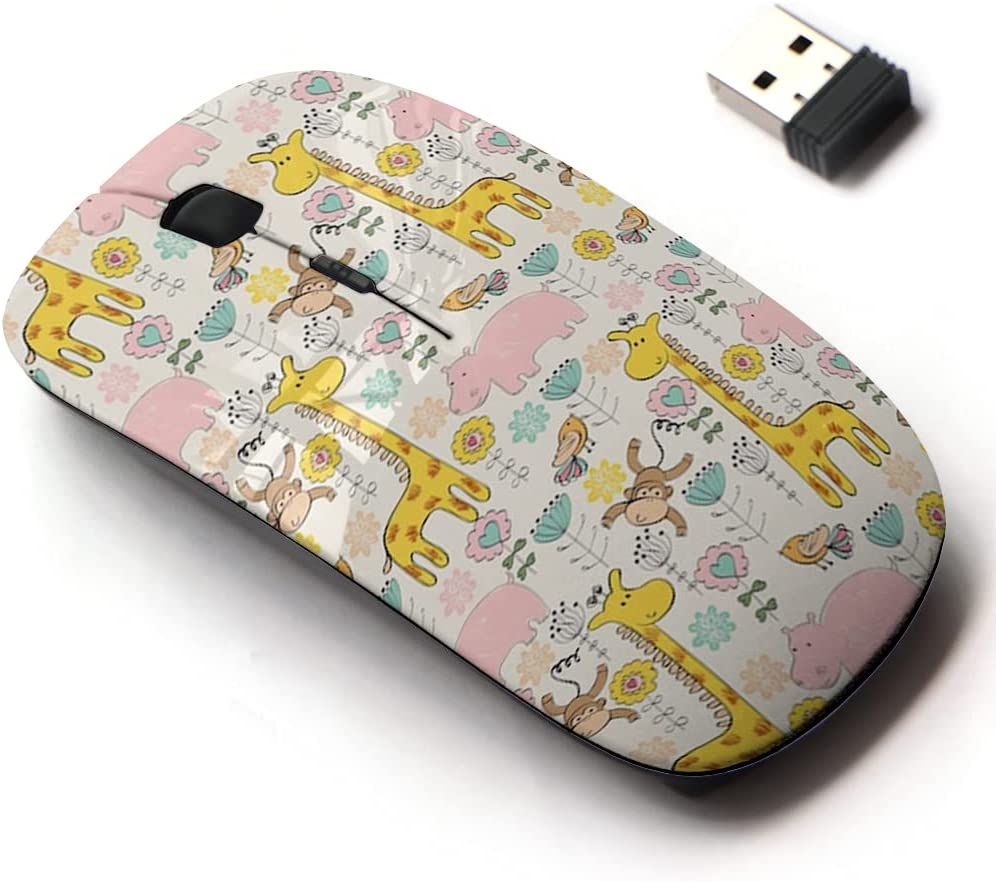 2.4G Wireless Mouse with Cute Pattern and store Design for All Laptops Regular store