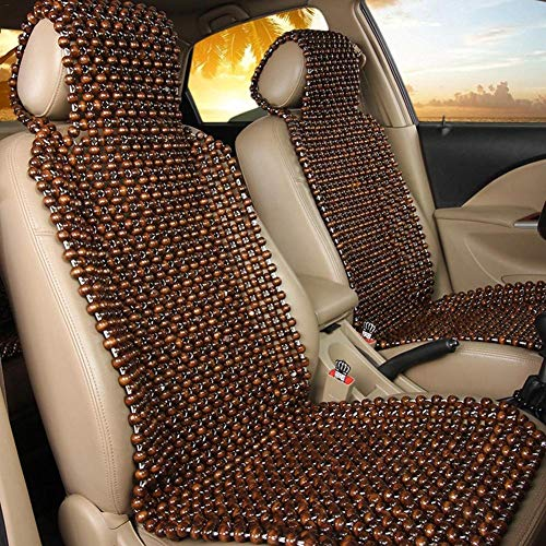 Augproveshak Wood Beads Massage Car Seat Cover Summer Cool Cushion Beads Massage Car Seat Cushion, 45 x 130CM
