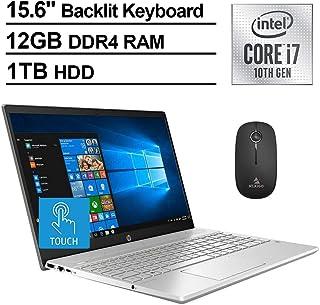 2020 HP Pavilion 15.6 Inch FHD 1080P Touchscreen Laptop, Intel 4-Core i7-1065G7 up to 3.9 GHz, 12GB DDR4 RAM, 1TB HDD, Backlit KB, Win10 + NexiGo Wireless Mouse Bundle (Renewed)
