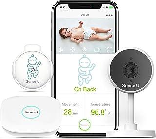 Sense-U Video + Movement Baby Monitor 2 with 1080P HD Camera, 2-Way Talk, Night Vision, Background Audio, Motion Detection...