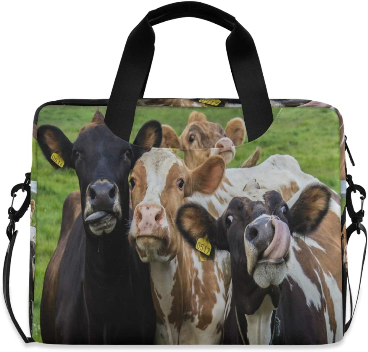 Ombra Omaha Mall Laptop Shoulder Bag Farm Cow Cattle Animal Portable Seasonal Wrap Introduction