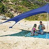 SUN NINJA Pop Up Beach Tent Sun Shelter UPF50+...