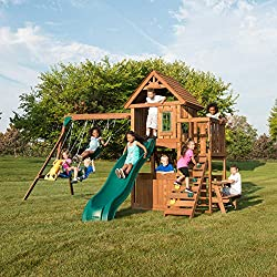 Swing-N-Slide WS 8348 Tioga Fort Swing Set, Wood
