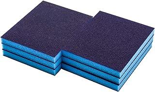 Cyful 100# Grit Blue Sponge Emery Cloth Sandpaper Blocks Buffing Diamond Polishing Pads Hand Sanding Tool-6pcs