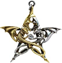 Draca Stella for Good Fortune by Anne Stokes Charm Amulet Talisman Pendant