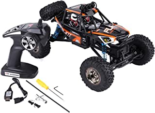 Qiterr RC Toy Car, RC Crawler Car Scale 1:12 Modelo 7.4V 2.4GHz Control Remoto Vehículo de Escalada para niños(Naranja)