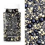 Fancy Sprinkles Black Widow Sprinkle Blend in Black, Gold, Metallic Sprinkles 4 ounce