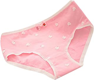 880cabaf8a162b Softmusic Sweet Cute Underwear Strawberry Cotton Panties Underpants for  Girls Women