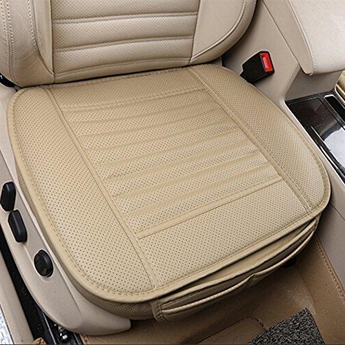 Autokussen, autostoelbescherming, comfortabel en ademend, polyurethaan-leer, bamboekolen, ademend, binnenbekleding mat voor bureaustoel en auto.