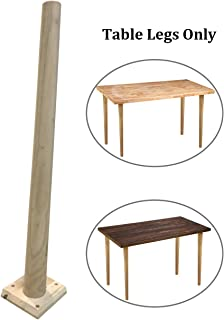 Sumerflos Home Office Desk Workbench Legs - 27'' Solid Wood Table Legs for Pine Wood Table Top with Pre-drilled Holes, Easy Assembly (Table Legs Only, Set of 4)