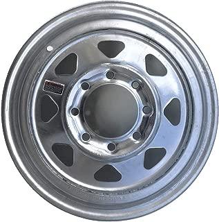 2-Pack Trailer Wheel Galvanized Rims 16 x 6 Spoke 8 Lug On 6.5 in. Center