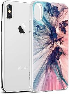 Funda iPhone XS MAX, Eouine Cárcasa Silicona 3D Transparente con Dibujos Diseño [Antigolpes] de Protector Bumper Case Cover Fundas para Movil Apple iPhone XsMax 2018-6,5 Pulgadas (Humo Colorido)