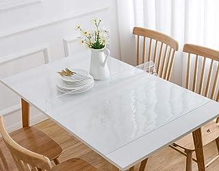 MadeInNature Nappe Cristal Transparente épaisse, Tailles et épaisseurs au Choix, Nappe Transparente rectangulaire, Permet ...