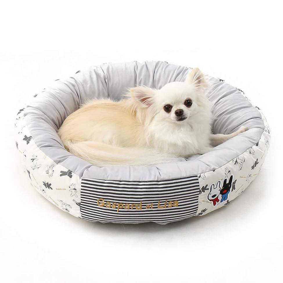 叱る理容師吐き出すNEW ペットパラダイス リサとガスパール 接触冷感 クール ドリーム カドラー ベッド 丸(直径:55cm)Q-MAX値0.416|犬 ベッド クール 冷却マット クールマット|