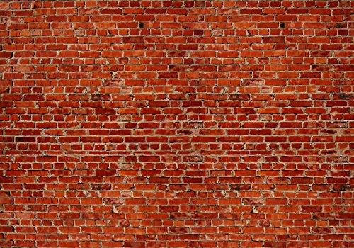 wandmotiv24 Vliestapete Backstein rot Stadt Größe: 400 x 280 cm Wand-Tapete, Wandbild, Motivtapete, Vlies-Tapeten VT240