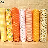 Anniston Art & Craft Sewing Set, 7Pcs/Set Quilting Fabric Floral Cotton Cloth DIY Craft Sewing Handmade Accessory Sewing Supplies for DIY Beginners Adult Kids Teens Girls, 8#