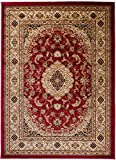 Carpeto Rugs Tapis Salon Rouge 140 x 190 cm Oriental/Iskander Collection