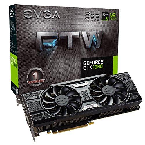 EVGA GeForce GTX 1060 6GB FTW GAMING ACX 3.0, 6GB GDDR5, LED, DX12 OSD...