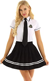 Women's Schoolgirl Costume Japanese Uniform Dress Sailor Suit Outfits Set